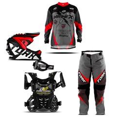 Kit Equipamento Motocross Infantil Pro Tork Insane X