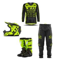 Kit Equipamento Motocross Jett Evolution - 4 Itens