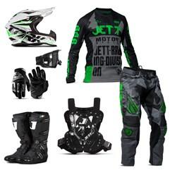 Kit Jett Factory Edition 3 Oficial Campeonato Paranaense Motocross