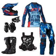 Kit Jett Factory Edition 3 Oficial Do Campeonato Paranaense Motocross