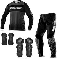 Kit Proteção Motocross Sportbay com 4 Itens