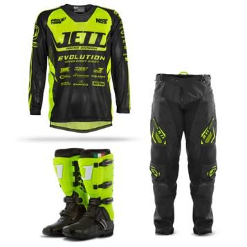 Equipamento Motocross Jett Evolution  - 3 Itens