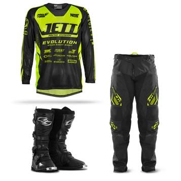 Kit Equipamento Motocross Jett Evolution - 3 Itens
