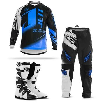 Kit Equipamento Motocross Jett Factory Edition  - 3 Itens