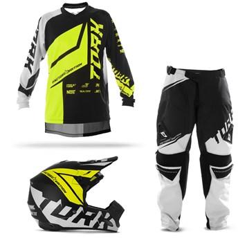 Kit Motocross Pro Tork Factory Edition Neon - 3 Itens