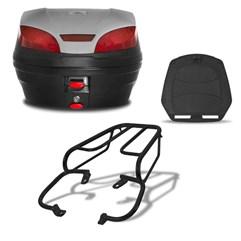 Baú 30 Litros Smartbox 3 + Bagageiro CBX 200 Strada 1994 Até 2002 Pro Tork