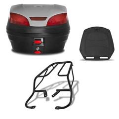 Baú 30 Litros Smartbox 3 + Bagageiro CBX 250 Twister 2001 Até 2008 Pro Tork