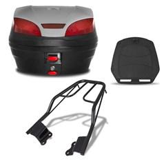 Baú 30 Litros Smartbox 3 + Bagageiro Fazer 150 2014 Pro Tork