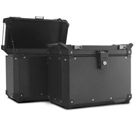 Bau Lateral Side Case Alumínio 33 Litros + Suporte Super Adventure CB 500X 2014 à 2018