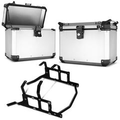 Bau Lateral Side Case Alumínio 33 Litros + Suporte Super Adventure NC 700/750 2012 à 2017