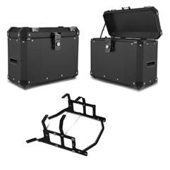 Bau Lateral Side Case Alumínio 33 Litros + Suporte Super Adventure NC 700/750 2012 à 2019
