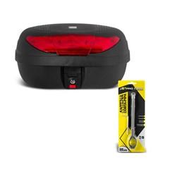 Baú Moto 45 Litros Smart Box 2 Pro Tork + Antena Corta Pipa 7/8