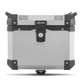 Baú Moto Alumínio Top Case 35 Litros + Base de Fixação Super Adventure DL 650 V-Strom 2014 À 2016