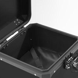Baú Moto Alumínio Top Case 35 Litros + Base de Fixação Super Adventure Modelo Universal