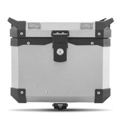 Baú Moto Alumínio Top Case 35 Litros + Base de Fixação Super Adventure Tiger 800 2014 À 2018