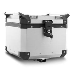 Baú Moto Alumínio Top Case 35 Litros + Base de Fixação Super Adventure Tiger 800 2014 À 2020