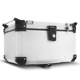 Baú Moto Alumínio Top Case 48 Litros + Base de Fixação Super Adventure DL 650 V-Strom 2003 À 2011