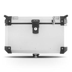 Baú Moto Alumínio Top Case 48 Litros + Base de Fixação Super Adventure XL 700 Transalp 2011