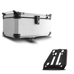 Baú Moto Alumínio Top Case 48 Litros + Base de Fixação Super Ténéré 1200 2011 À 2018