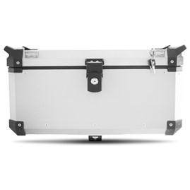 Baú Moto Alumínio Top Case 56 Litros + Base de Fixação Super Adventure Modelo Universal