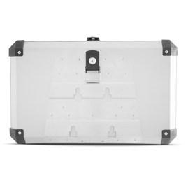 Baú Moto Alumínio Top Case 56 Litros + Base de Fixação Super Adventure Tiger 800 2014 À 2020