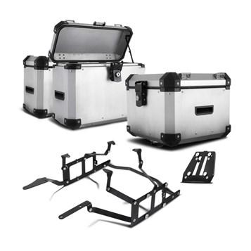 Bau Moto Top Case Roncar Kit Completo Tiger 1200 2014 em Diante
