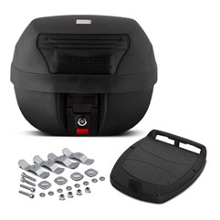 Baú Plástico Moto 28 Litros Pro Tork Smart Box 2 Fumê