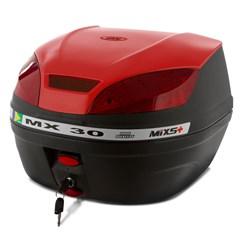 Baú Plástico Moto 30 Litros Mixs MX 30 Vermelho