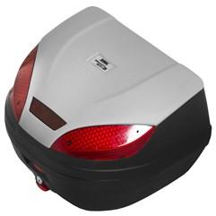 Baú Plástico Moto 30 Litros Pro Tork Smart Box 3 Prata