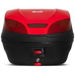 Baú Plástico Moto 30 Litros Pro Tork Smart Box 3 Vermelho