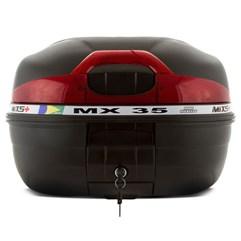 Baú Plástico Moto 35 Litros Mixs MX 35 Preto
