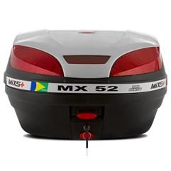 Baú Plástico Moto 52 Litros Mixs MX 52 Prata
