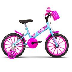Bicicleta Aro 16 Infantil Com Rodinhas Ultra Kids T Azul Bebê/Rosa