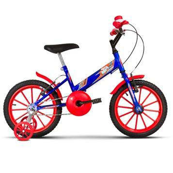 Bicicleta Aro 16 Infantil Com Rodinhas Ultra Kids T Azul/Vermelho