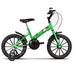 Bicicleta Aro 16 Infantil Com Rodinhas Ultra Kids T Verde KW/Preto