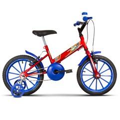 Bicicleta Aro 16 Infantil Com Rodinhas Ultra Kids T Vermelho/Azul