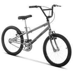 Bicicleta Aro 20 Pro Tork Ultra Freio V Brake Rebaixada Cinza