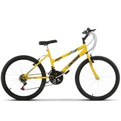 Bicicleta Aro 24 Feminina 18 Marchas Ultra Bikes Amarela