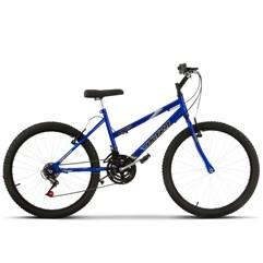 Bicicleta Aro 24 Feminina 18 Marchas Ultra Bikes Azul