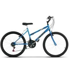 Bicicleta Aro 24 Feminina 18 Marchas Ultra Bikes Chrome Line Azul
