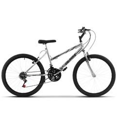 Bicicleta Aro 24 Feminina 18 Marchas Ultra Bikes Chrome Line Cromada