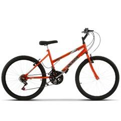 Bicicleta Aro 24 Feminina 18 Marchas Ultra Bikes Chrome Line Laranja