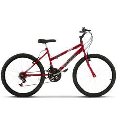 Bicicleta Aro 24 Feminina 18 Marchas Ultra Bikes Vermelha
