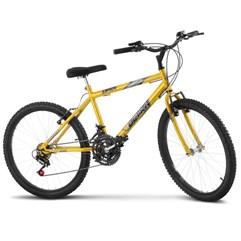 Bicicleta Aro 24 Masculina 18 Marchas Ultra Bikes Amarelo