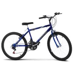 Bicicleta Aro 24 Masculina 18 Marchas Ultra Bikes Azul