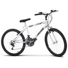 Bicicleta Aro 24 Masculina 18 Marchas Ultra Bikes Branca