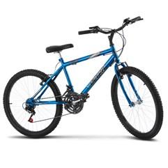 Bicicleta Aro 24 Masculina 18 Marchas Ultra Bikes Chrome Line Azul