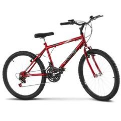Bicicleta Aro 24 Masculina 18 Marchas Ultra Bikes Vermelha