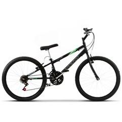 Bicicleta Aro 24 Pro Tork Ultra Freio V Brake Preto Fosco Rebaixada