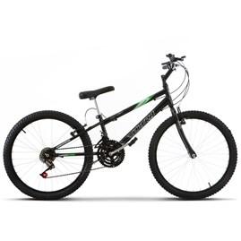 Bicicleta Aro 24 Pro Tork Ultra Freio V Brake Rebaixada Preto Rebaixada